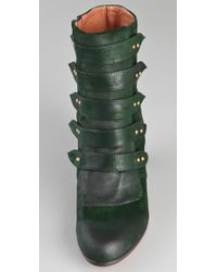 Jeffrey Campbell | Green Ellie Mae Suede Booties | Lyst