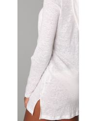 Joie - White A La Plage Andy Linen Slub Hooded Cover-up - Lyst
