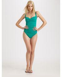 La Blanca   Green One-piece Sweetheart Swimsuit   Lyst