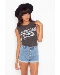 Nasty Gal - Black American Rebel Muscle Tee - Lyst