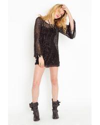 Nasty Gal - Black Heavy Metal Silk Dress - Lyst