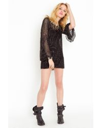 Nasty Gal | Black Heavy Metal Silk Dress | Lyst