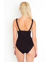 Nasty Gal | Black Quilted Bustier Bodysuit | Lyst