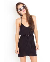 Nasty Gal - Racerback Wrap Dress - Black - Lyst
