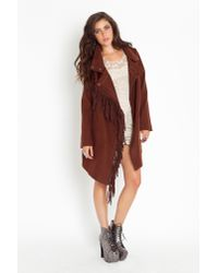 Nasty Gal | Brown Oxton Fringe Coat | Lyst