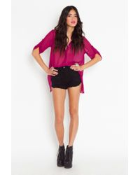 Nasty Gal - Purple Kate Chiffon Blouse - Fuchsia - Lyst