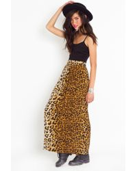 Nasty Gal - Multicolor Call Of The Wild Maxi Skirt - Lyst