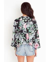 Nasty Gal - Pink Rosy Kimono Jacket - Lyst
