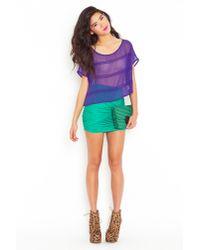 Nasty Gal - Purple Shrinking Violet Top - Lyst