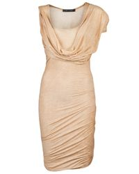 Plein Sud Jeanius | Natural Drape Sleeve Dress | Lyst