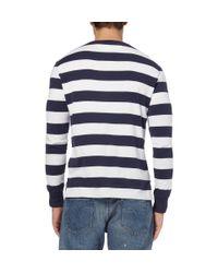 Polo Ralph Lauren - Blue Striped Long-sleeve Henley T-shirt for Men - Lyst