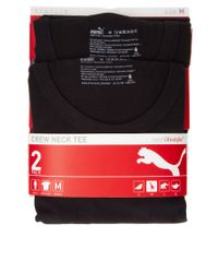 PUMA - Black 2 Pack V Neck T Shirts for Men - Lyst