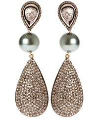 Samira 13 | Metallic Silver Drop Earrings | Lyst