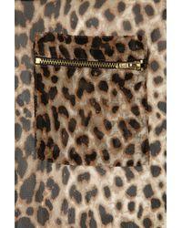 TOPSHOP - Multicolor Animal Zip Pocket Vest - Lyst