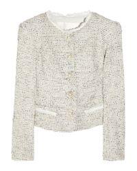 Zac Posen - Natural Bouclé-tweed Jacket - Lyst