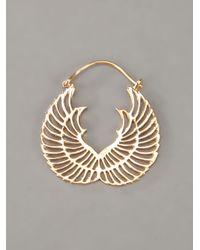 Zoe & Morgan - Metallic Wing Hoop Earrings - Lyst