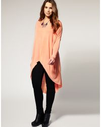 ASOS Collection - Pink Asos Curve Jersey Top with Dip Back - Lyst