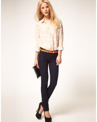 ASOS Collection - Pink Shirt with Swan Print - Lyst
