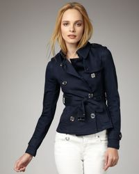Burberry Brit | Blue Double-breasted Denim Jacket | Lyst