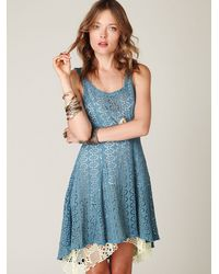 Free People - Blue Spring Crush Dress - Lyst