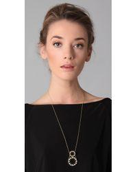 House of Harlow 1960 - Black Double Sunburst Pendant Necklace - Lyst