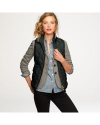 J.Crew | Green Excursion Quilted Vest | Lyst