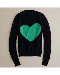 J.Crew | Blue Heart Me Sweater | Lyst