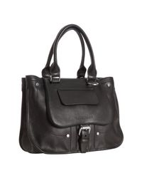 Longchamp | Black Leather Balzane Handbag | Lyst