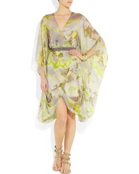 Matthew Williamson | Multicolor Kyoto Printed Silk-chiffon Wrap Dress | Lyst