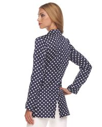 Michael Kors | Blue Polka-dot Jacket | Lyst
