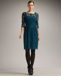 MILLY - Blue Celia Lace Dress - Lyst