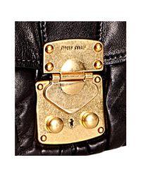 Miu Miu | Black Quilted Leather Matelasse Shoulder Bag | Lyst