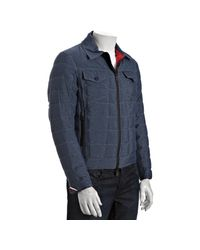 Moncler - Denim Blue Quilted Ill Zip Front Down Jacket for Men - Lyst