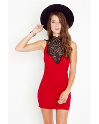 Nasty Gal - Red Tied Crochet Dress - Crimson - Lyst