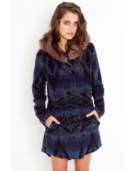 Nasty Gal | Bostwick Wool Toggle Coat - Blue | Lyst