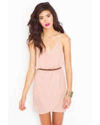 Nasty Gal | Pink Racerback Wrap Dress  | Lyst