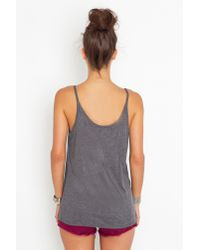 Nasty Gal | Gray Ribbed Scoop Tank - Charcoal | Lyst