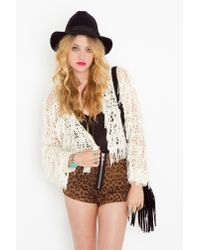 Nasty Gal | Natural Crochet Fringe Jacket | Lyst