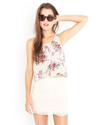 Nasty Gal - Natural Selah Crochet Skirt - Lyst