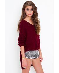 Nasty Gal | Gray Snowflake Knit Shorts | Lyst