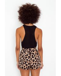 Nasty Gal | Multicolor Leopard Tap Shorts | Lyst
