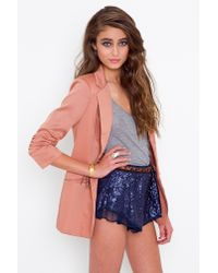 Nasty Gal | Blue Ariel Sequin Shorts | Lyst