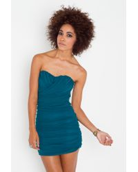 Nasty Gal - Blue Colette Chiffon Dress - Lyst