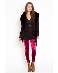 Nasty Gal | Purple Crushed Velvet Leggings  | Lyst