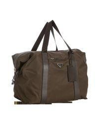 Prada | Brown Milk Chocolate Tessuto Weekend Bag for Men | Lyst