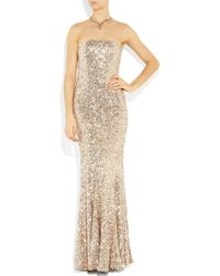 Rachel Gilbert - Metallic Shayla Sequined Tulle Gown - Lyst