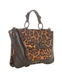 Rebecca Minkoff | Black Calf Hair Covet Top Handle Shoulder Bag | Lyst