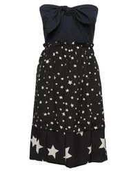 Sonia by Sonia Rykiel | Black Star Strapless Ruffle Dress | Lyst