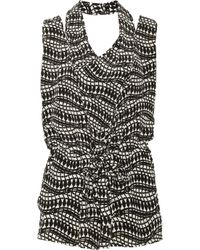 Thakoon Addition | Black Printed Silkcrepe Playsuit | Lyst