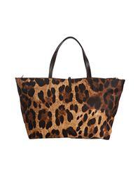 Ferragamo - Brown Leopard Print Nylon Tote Bag - Lyst